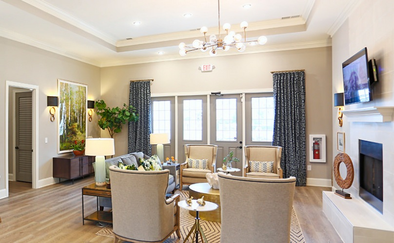 Resident Community Lounge At Laurel View Apartments in Concord, NC