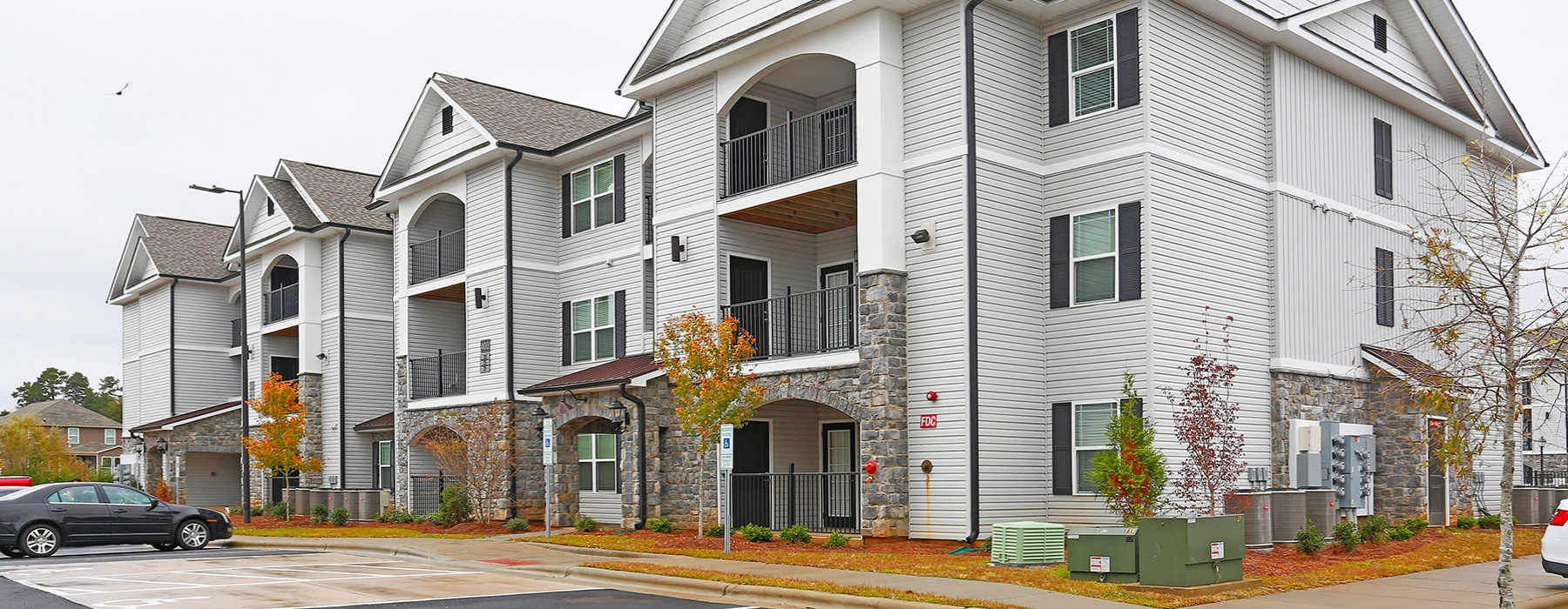 Laurel View Apartments in Concord, NC Exterior Building View