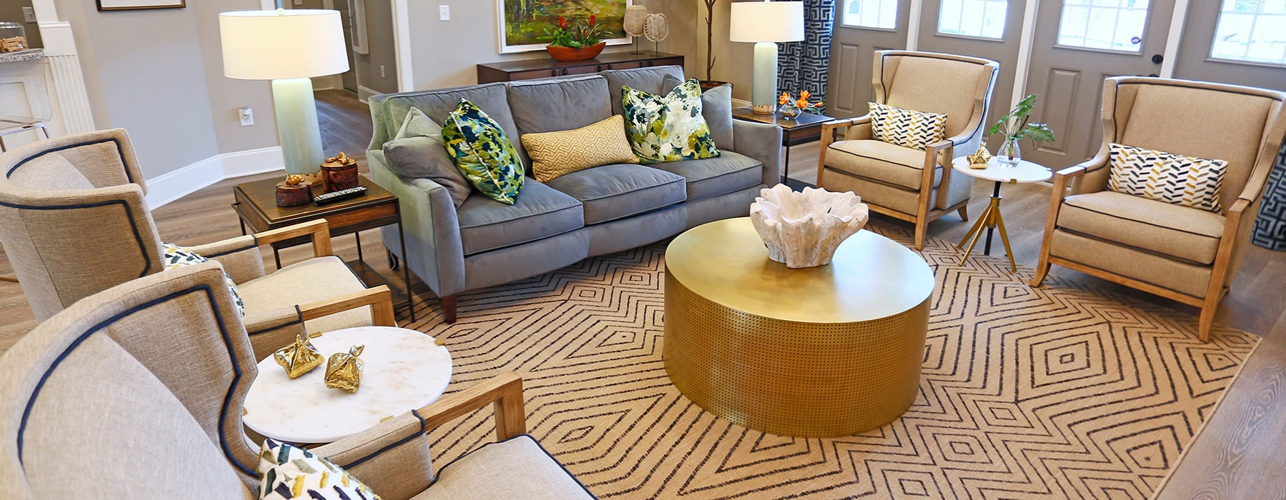 Resident Lounge With Comfortable Seating At Laurel View Apartments in Concord, NC